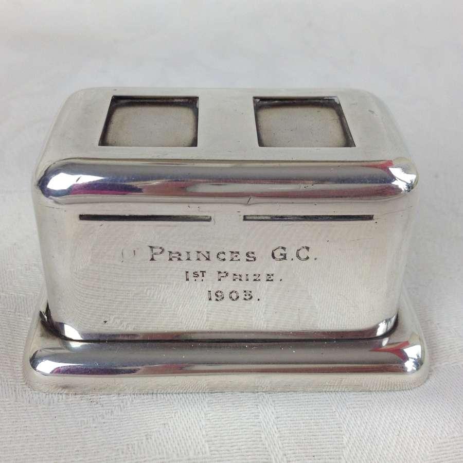 Novelty Edwardian Silver Stamp Dispenser Box William Hornby