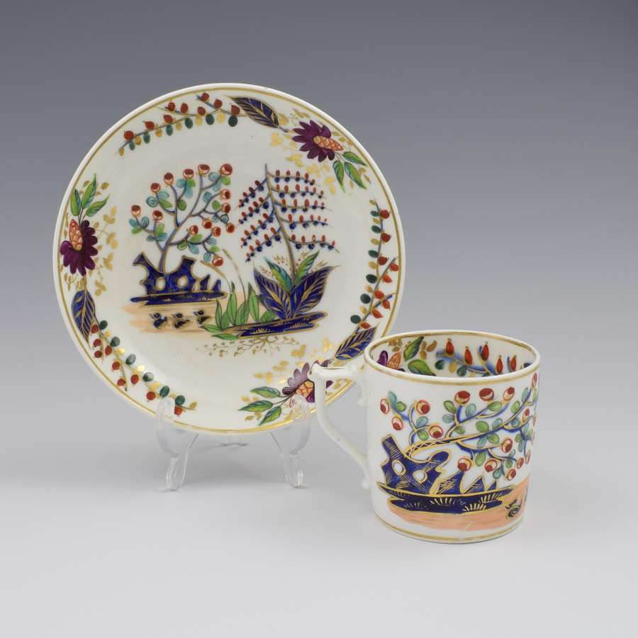 Derby Porcelain Kakiemon Coffee Can & Saucer c.1815