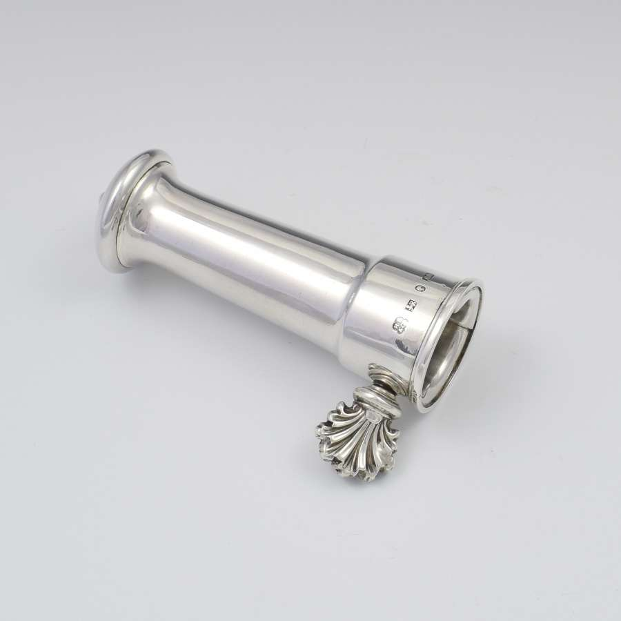 Victorian English Silver Lamb Bone Holder