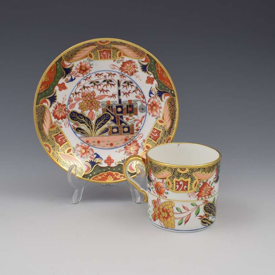 Spode Porcelain Imari Coffee can & Saucer Pattern 967 c.1810