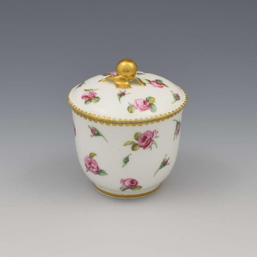 18th Century Sevres Porcelain Pot De Confiture / Jam Pot 1780