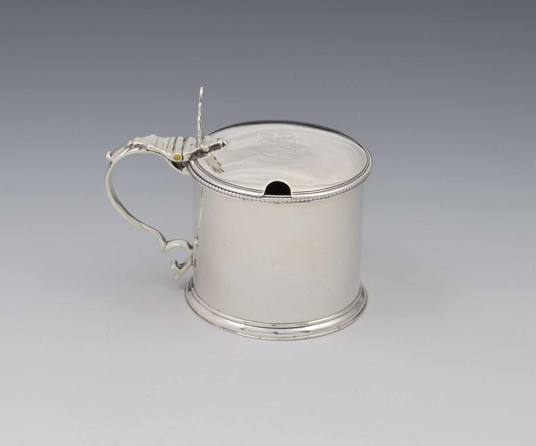 Georgian Silver Drum Mustard Pot Robert Hennell 1782
