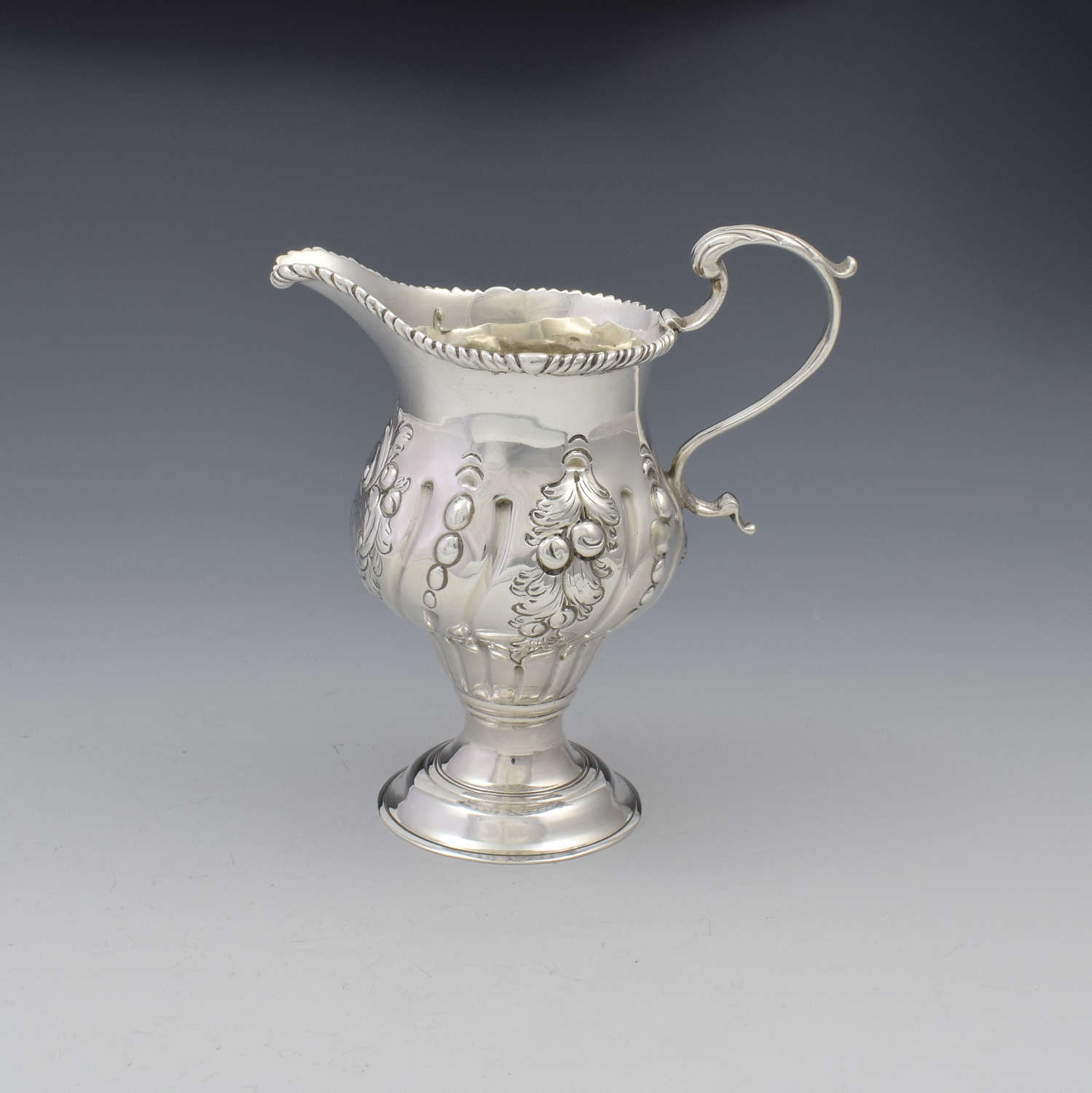 Early George III Silver Pedestal Cream Jug 1767