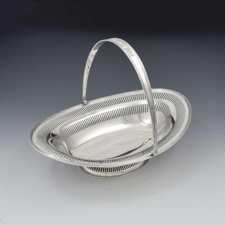 George V Swing Handled Sterling Silver Table / Bread Basket