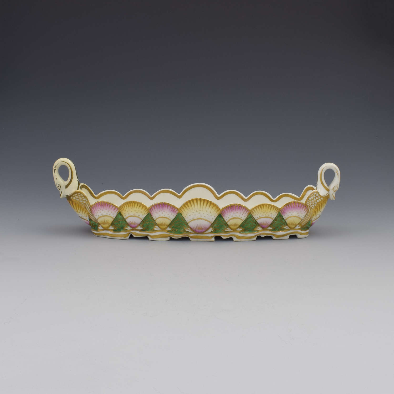 Unusual English Porcelain Scallop Shell Pen Tray Probably Coalport