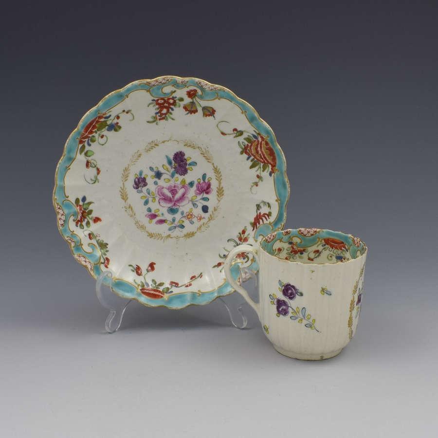 Worcester Porcelain Compagnie Des Indes & Rich Japan Cup & Saucer