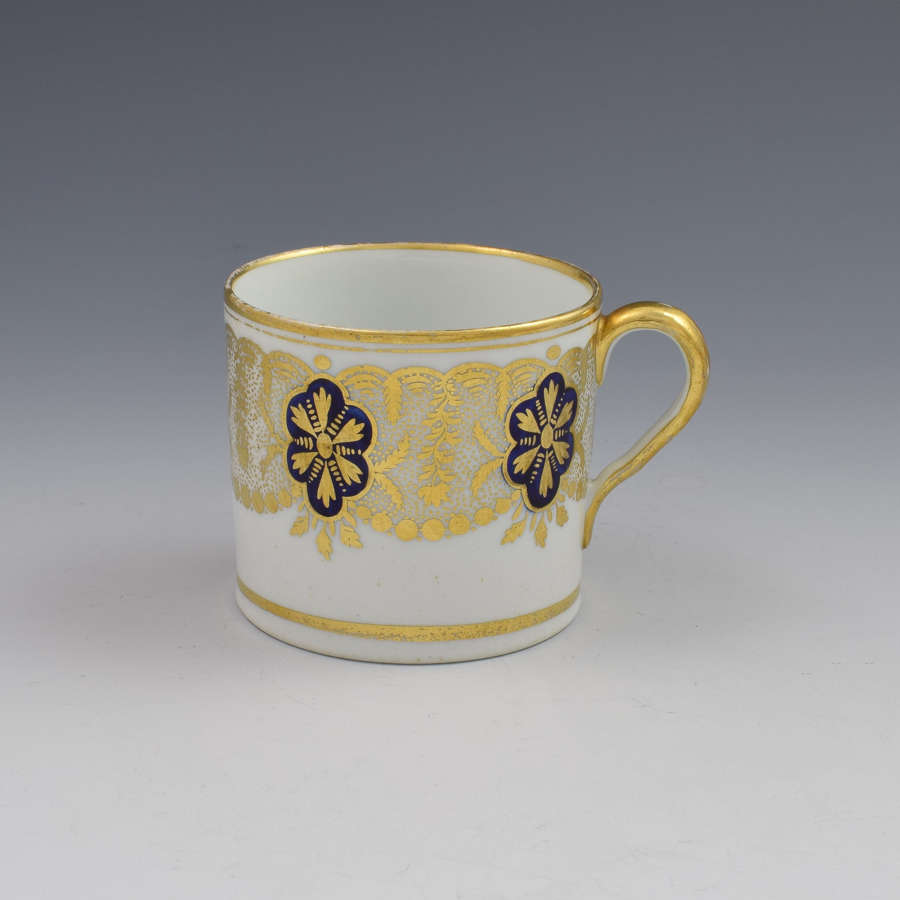 English Porcelain Coffee Can Probably Coalport c.1805