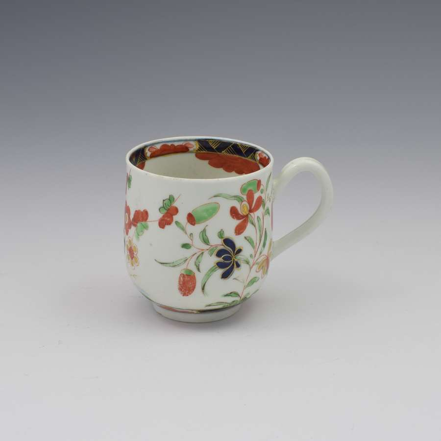 First Period Worcester Porcelain Kempthorne Pattern Coffee Cup c.1770