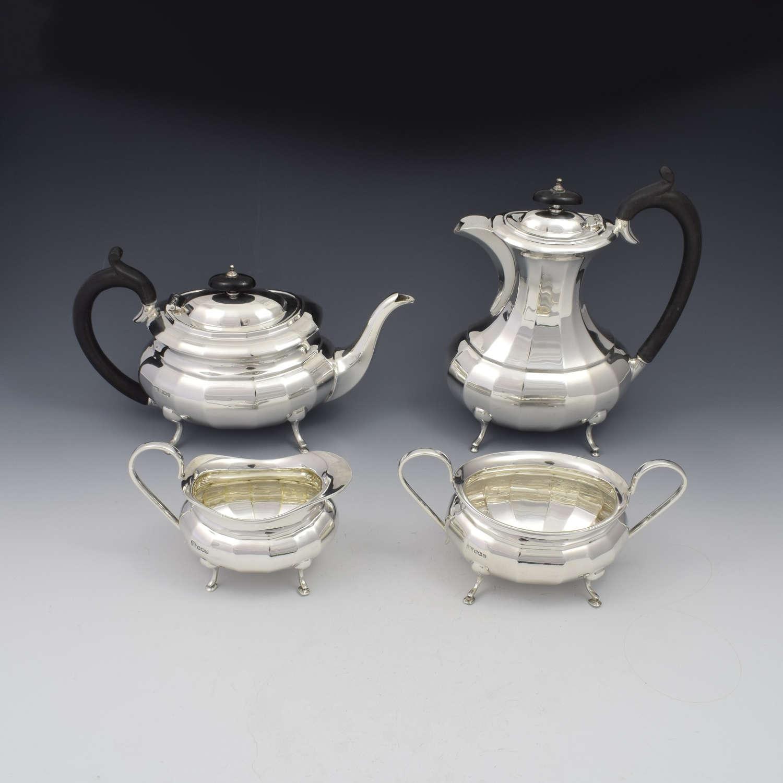 Stunning 4 Piece Art Deco Silver Tea / Coffee Set