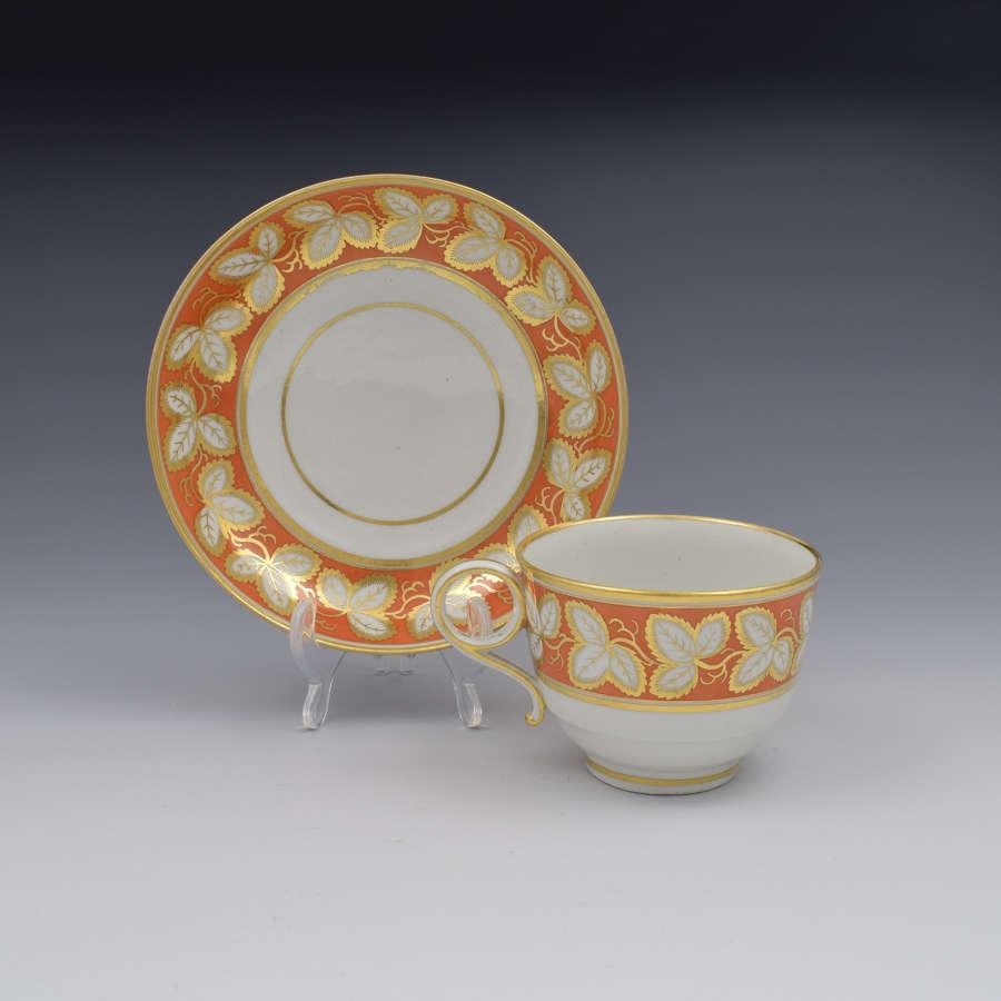 Barr Period Worcester Porcelain Tea Cup & Saucer
