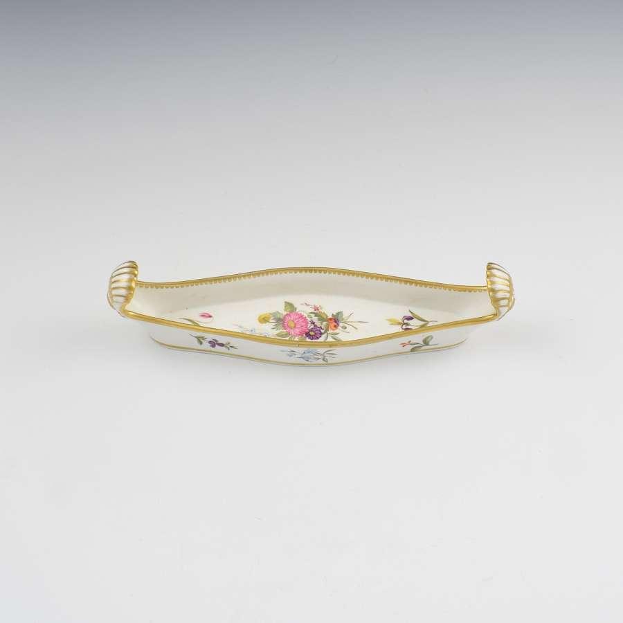 Rare Chamberlain Worcester Porcelain Shell & Canoe Pen Tray c.1820