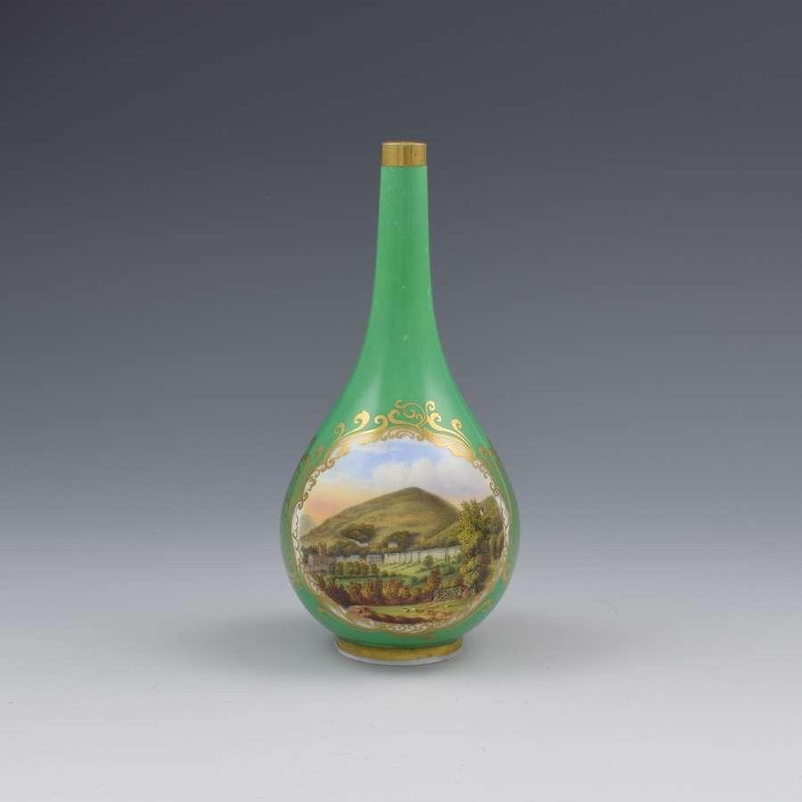 Chamberlain's Worcester Porcelain Bottle Vase View Of Malvern
