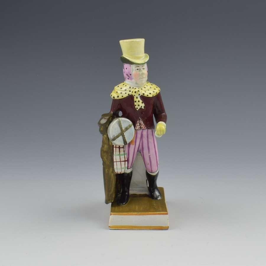 Enoch Wood Staffordshire Pearlware Figure John Liston As Lubin Log