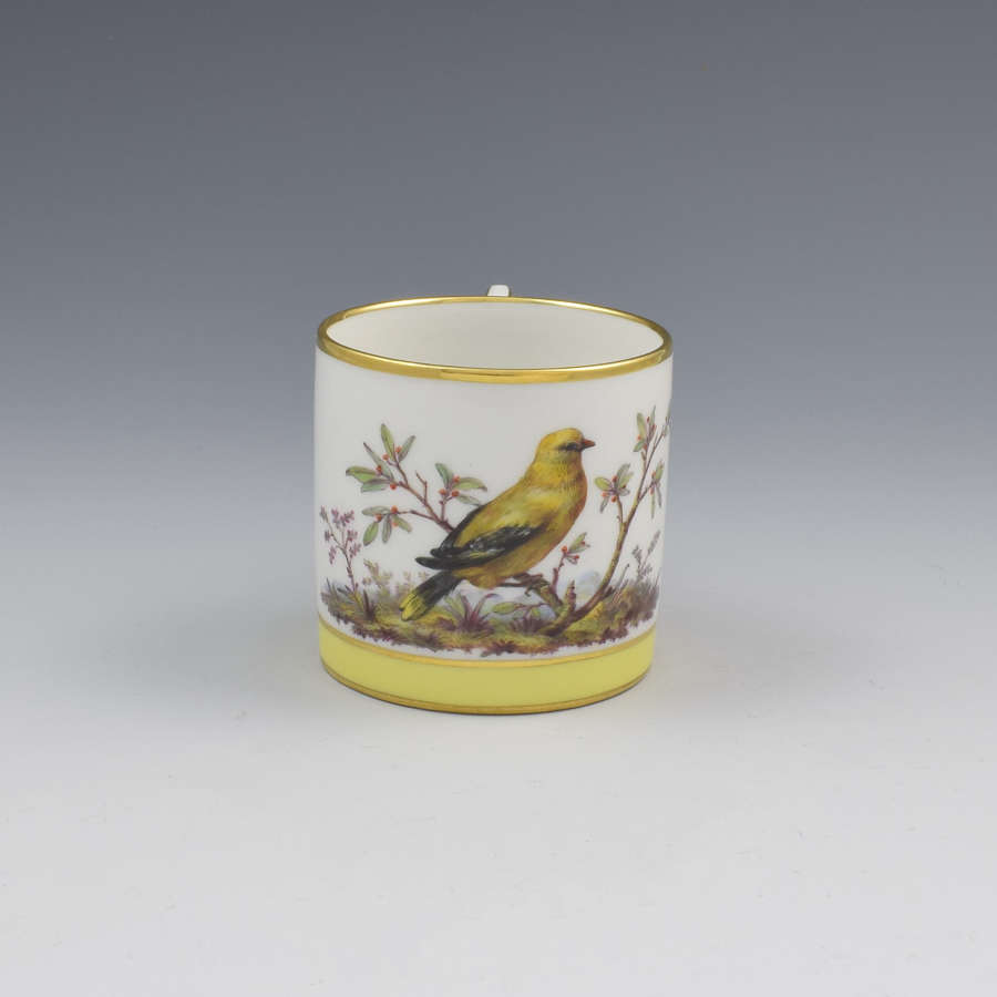 KPM Berlin Porcelain Ornithological Golden Oriole Porcelain Coffee Can