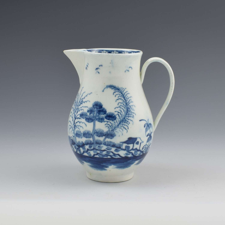 Rare Caughley Porcelain Rock Strata Island Pattern Cream Jug