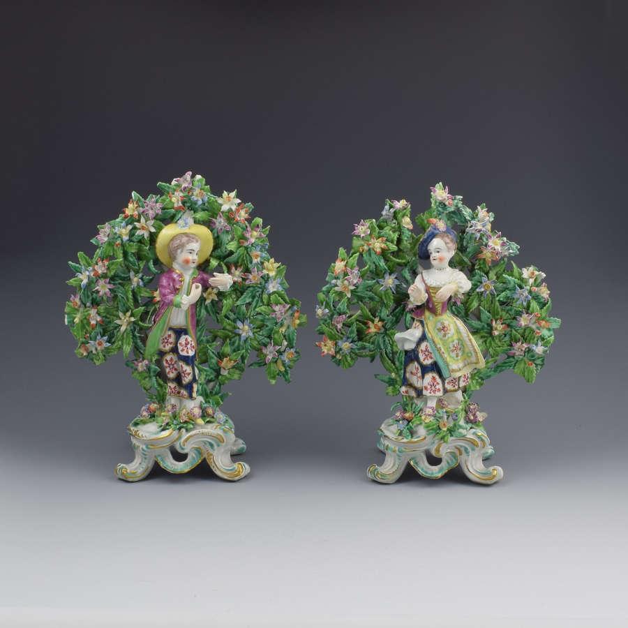 Pair Bow Porcelain Bocage Figures New Dancers c.1765