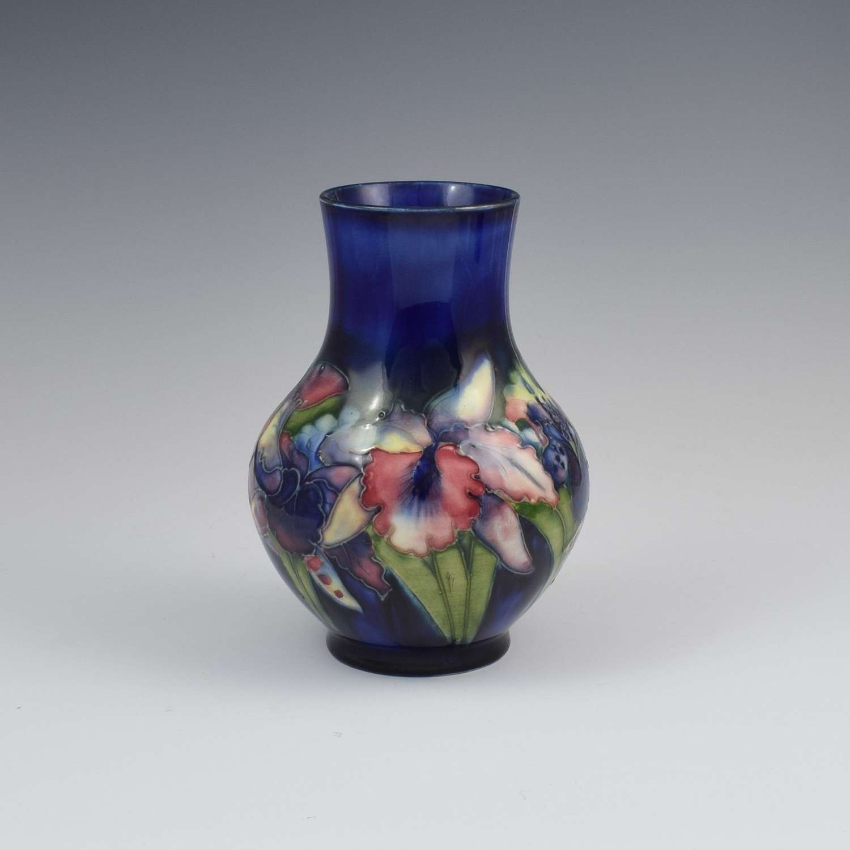 William Moorcroft Blue Orchid 7