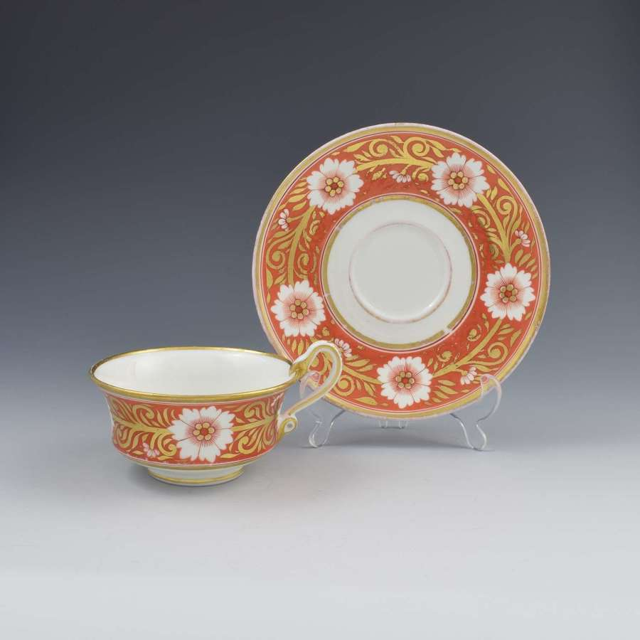 Spode Etruscan Cup & Saucer Serpent Handle c.1817 Pattern 878