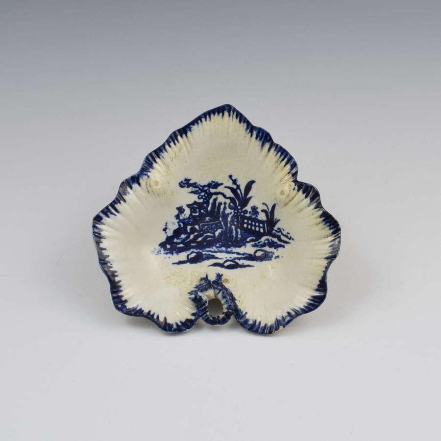 Rare Liverpool Porcelain John Pennington Leaf Tray Pickle Dish