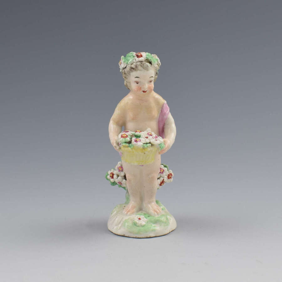18th Century Derby Porcelain Figure Small Putto c.1780