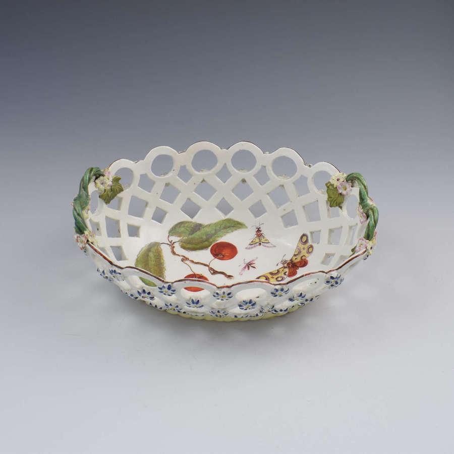 Fine Derby Porcelain Spectacle Basket c.1760-1765
