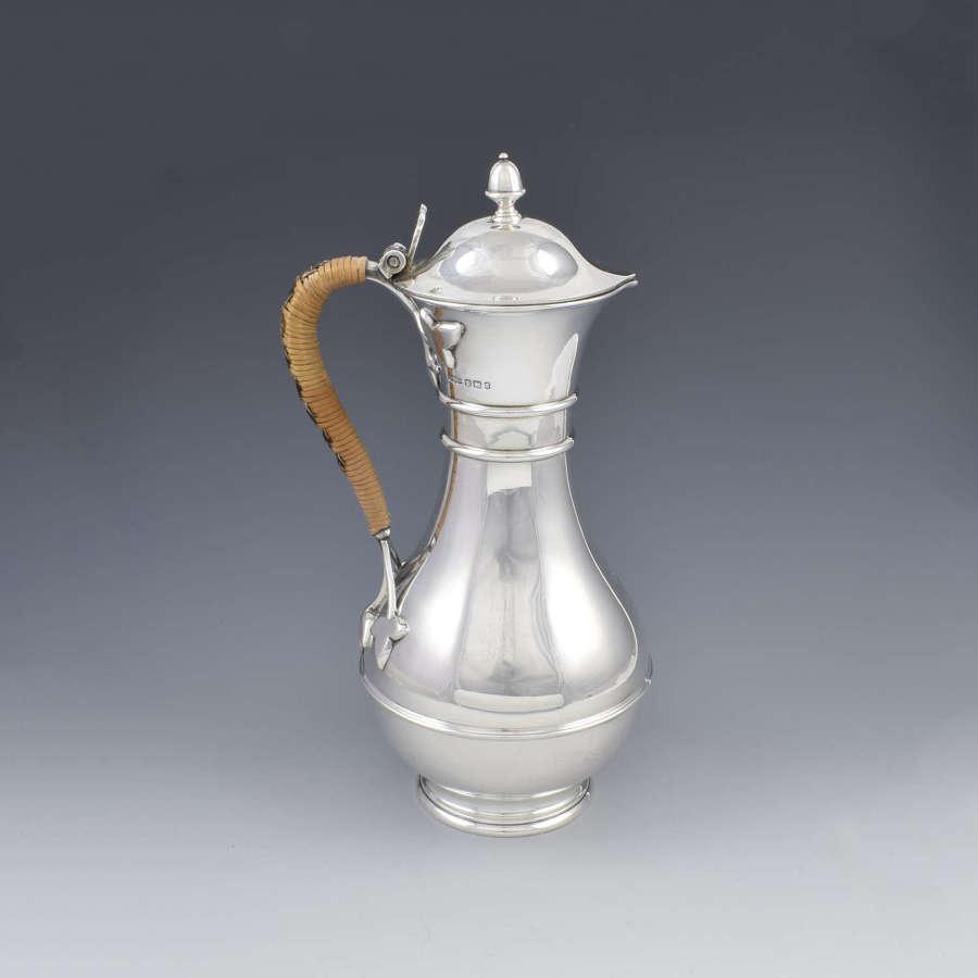 Victorian Arts & Crafts Silver Claret Jug / Wine Ewer