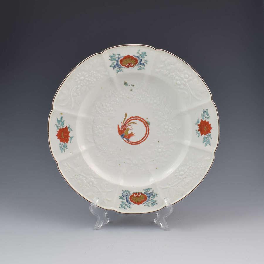 Chelsea Porcelain Kakiemon Damask'd Plate Coiled Phoenix c.1754