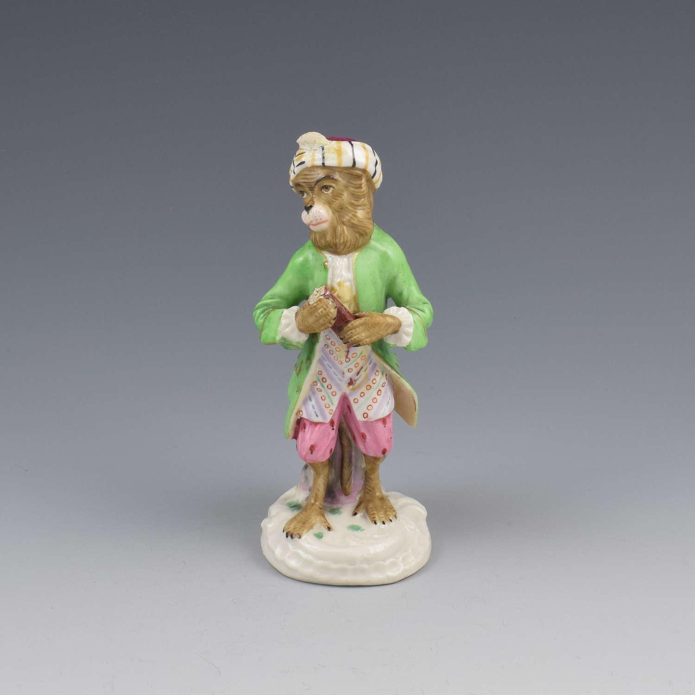 Dresden Porcelain Monkey Band Figure Bassoon Player