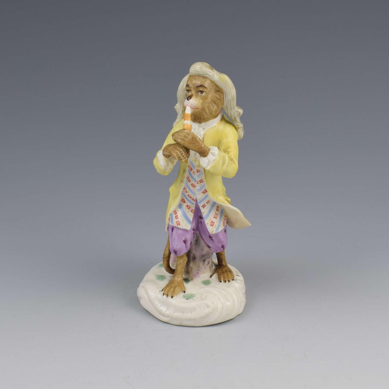 Dresden Porcelain Monkey Band Figure Clarinet Player