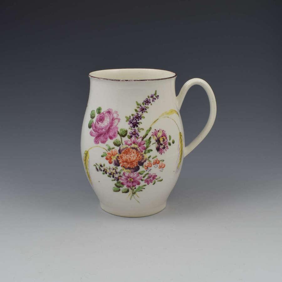 Early Derby Porcelain Large Ovoid Barrel Shaped Mug c.1760