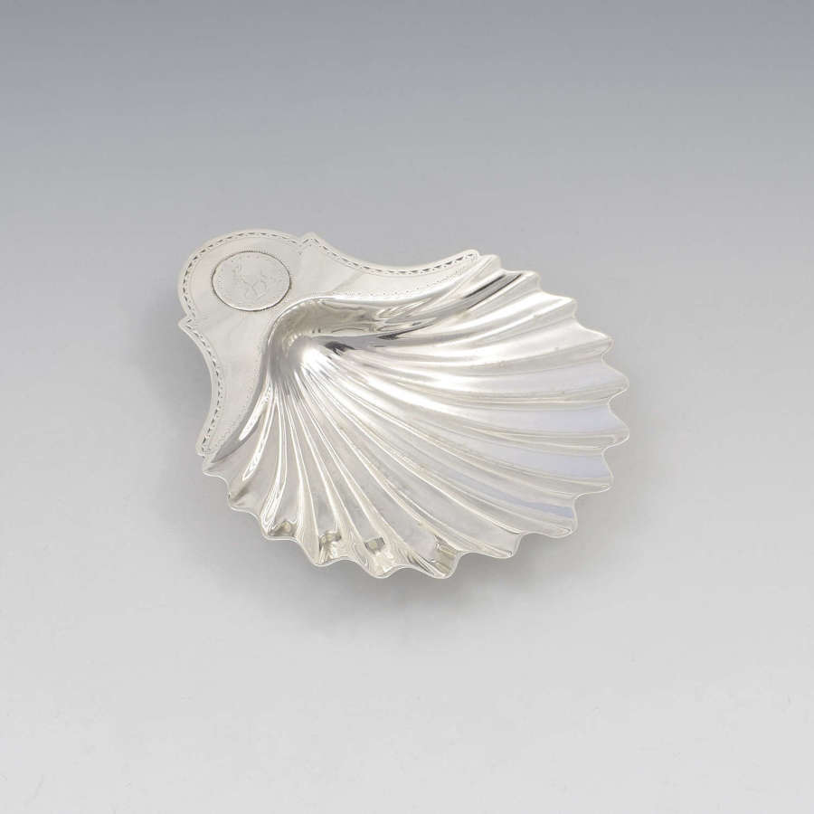 George III Silver Scallop Shell Butter Dish London 1782