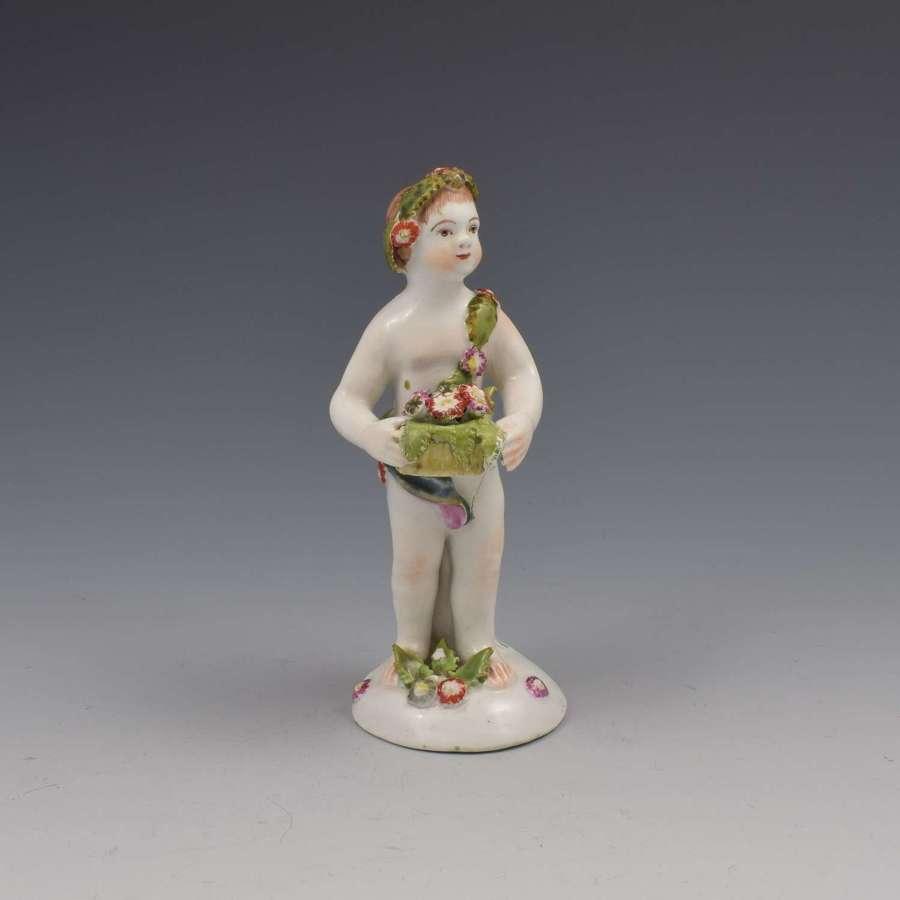 Bow Porcelain Figure Putto c.1755-1765