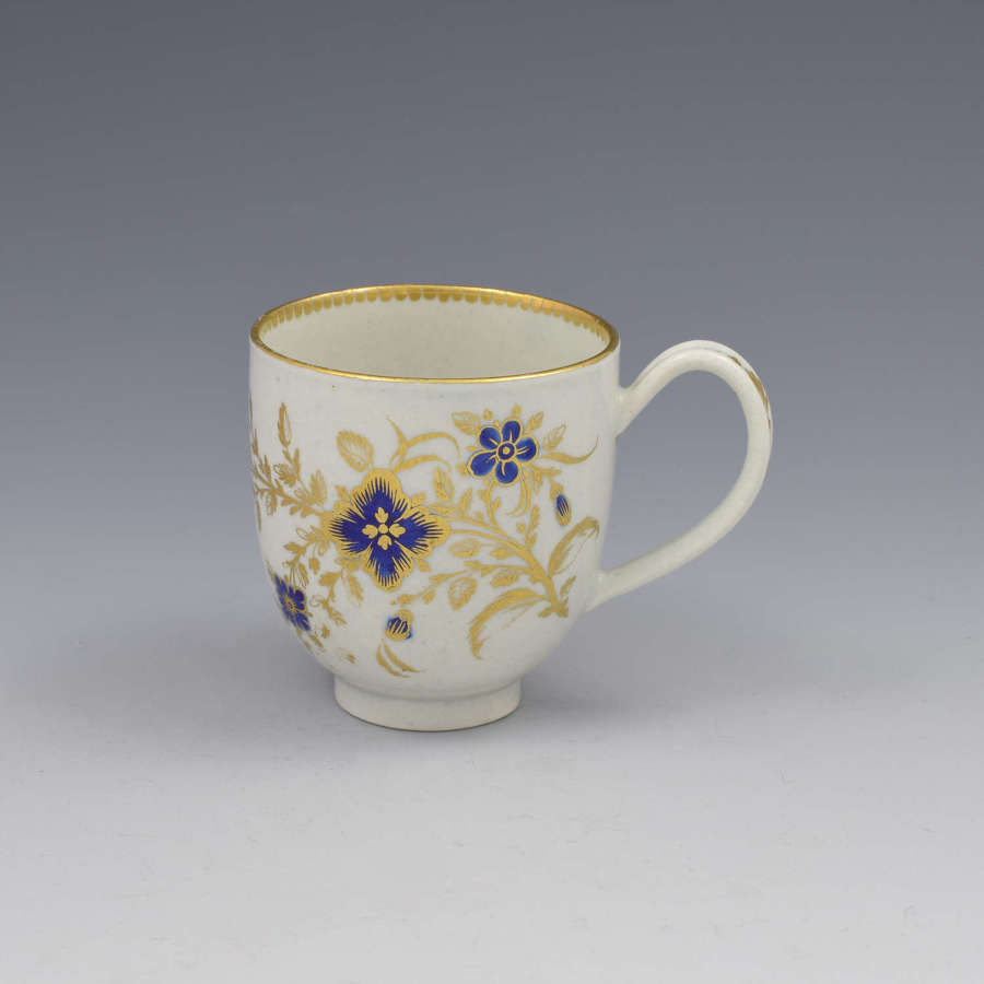 First Period Worcester Porcelain Coffee Cup c.1785