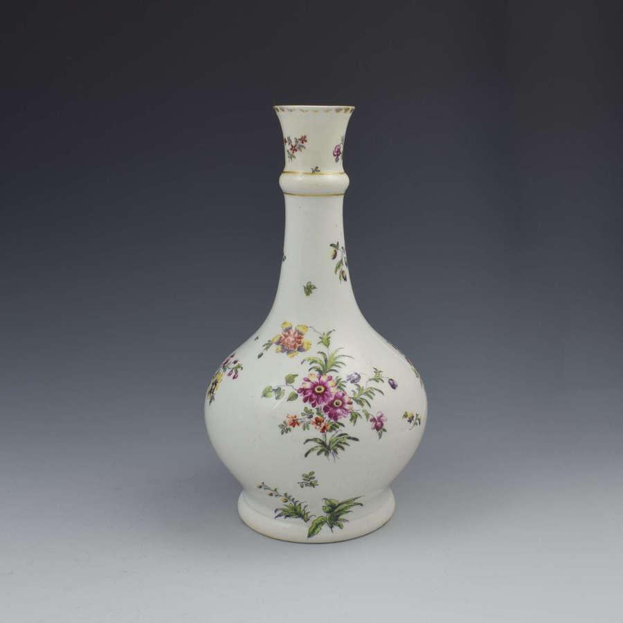 Derby Porcelain Cotton Stem Painter Water Bottle Guglet c.1760