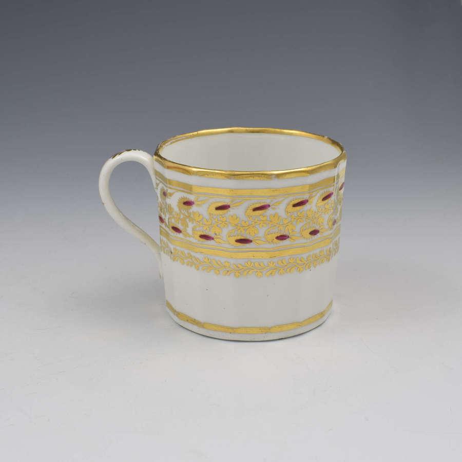 Fine Georgian Coalport Porcelain Hamilton Flute Coffee Can c.1805