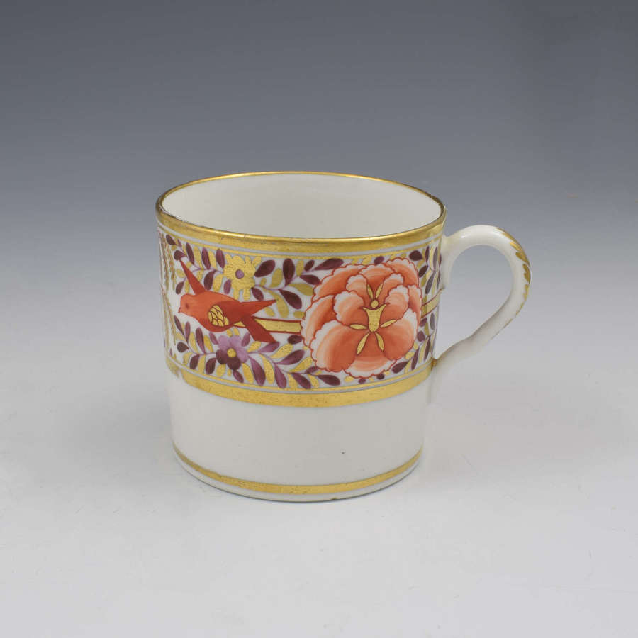 Coalport Porcelain John Rose Coffee Can Red Birds Willow & Peony