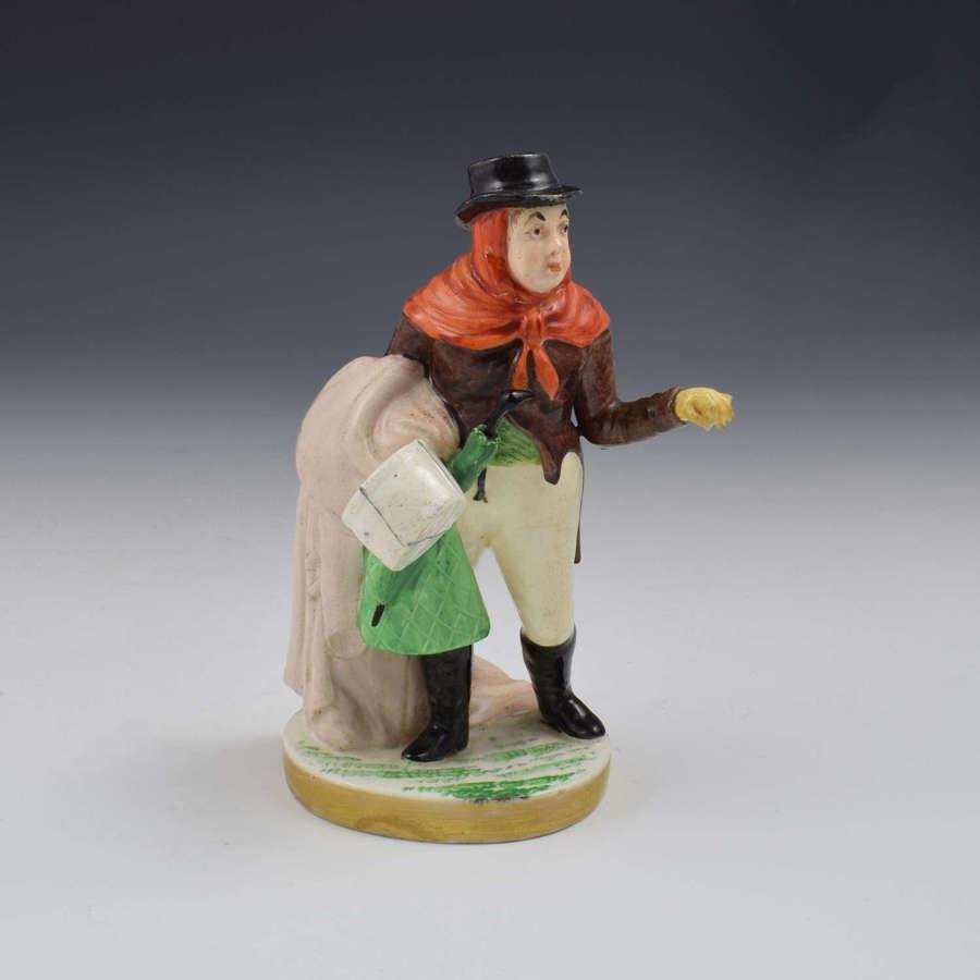 Rockingham Porcelain Figure John Liston As Lubin Log No. 11 c.1826-30