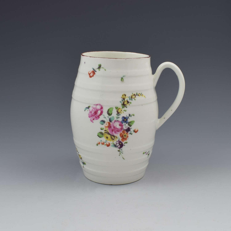 Fine Derby Porcelain Barrel Shaped Cider Mug c.1760-1765