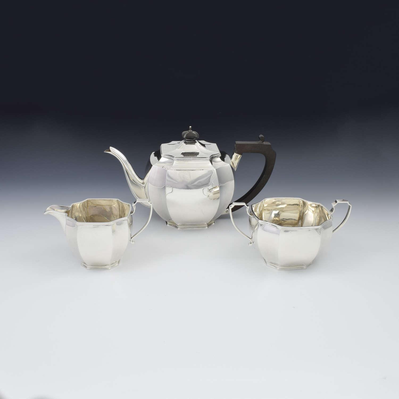 Art Deco Sterling Silver Tea Set Mappin & Webb 1932
