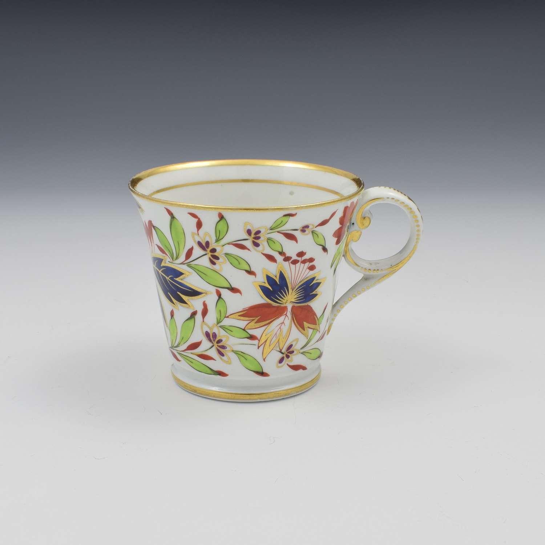 Chamberlain Worcester Porcelain Imari Coffee Cup Pattern 475