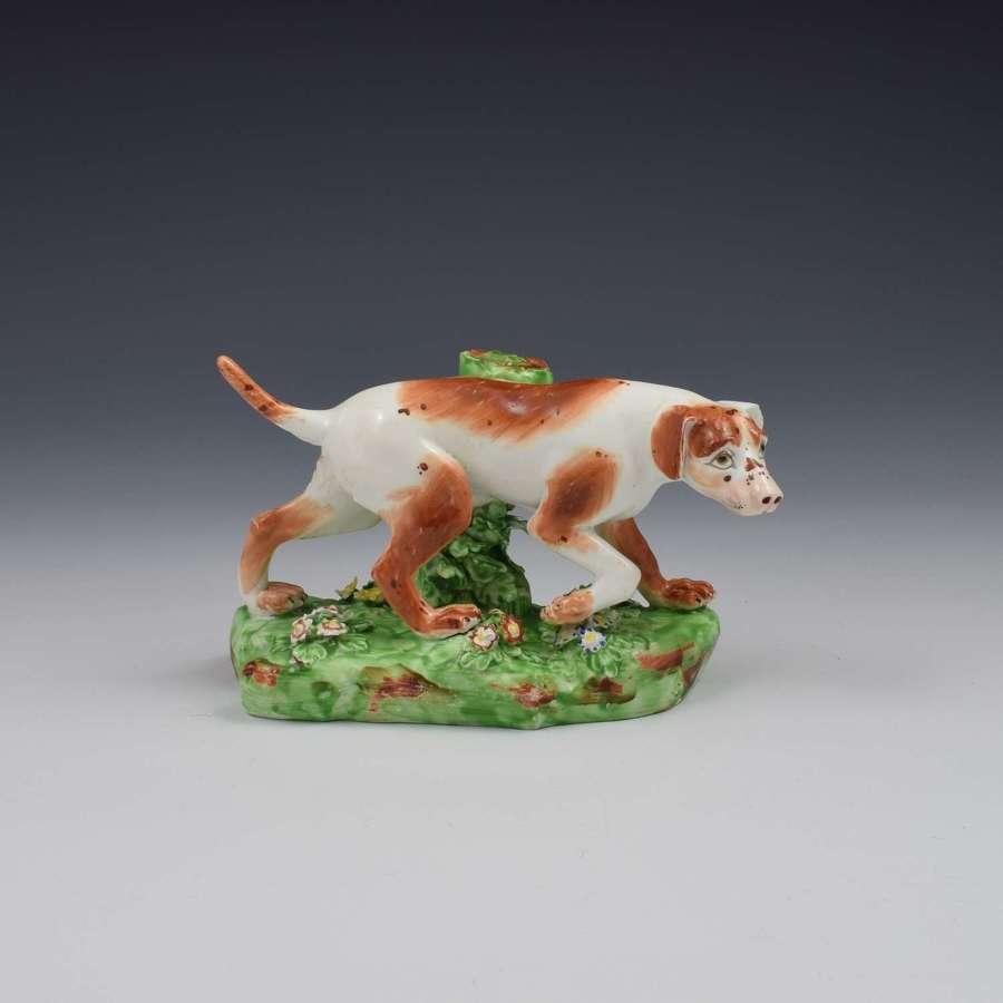 Fine Derby Porcelain Figure Model Of A Pointer Dog c.1800