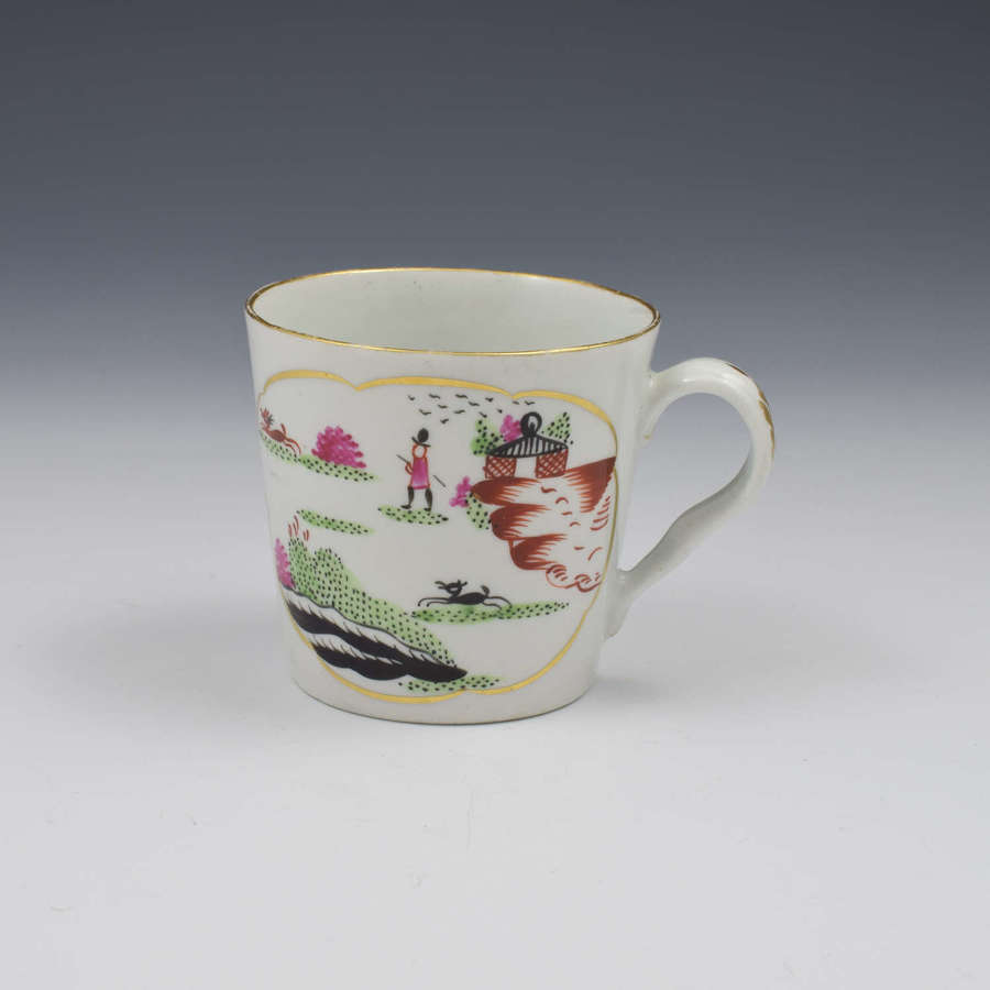 Chamberlain Worcester Porcelain Stag Hunt Coffee Can c.1792