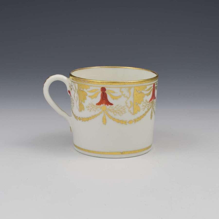 Georgian Coalport Porcelain Coffee Can c.1805 Pattern 724
